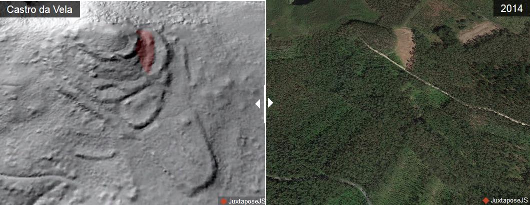 Antes e despois do Castro da Vela