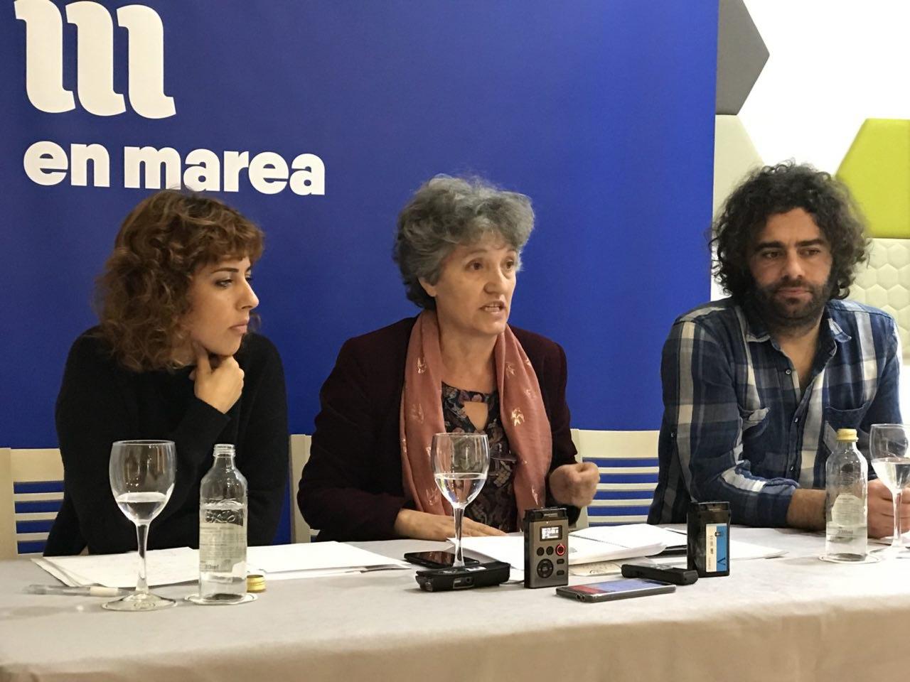 Rolda de prensa de Alexandra Fernandez, Lidia Senra e Davide Rodriguez