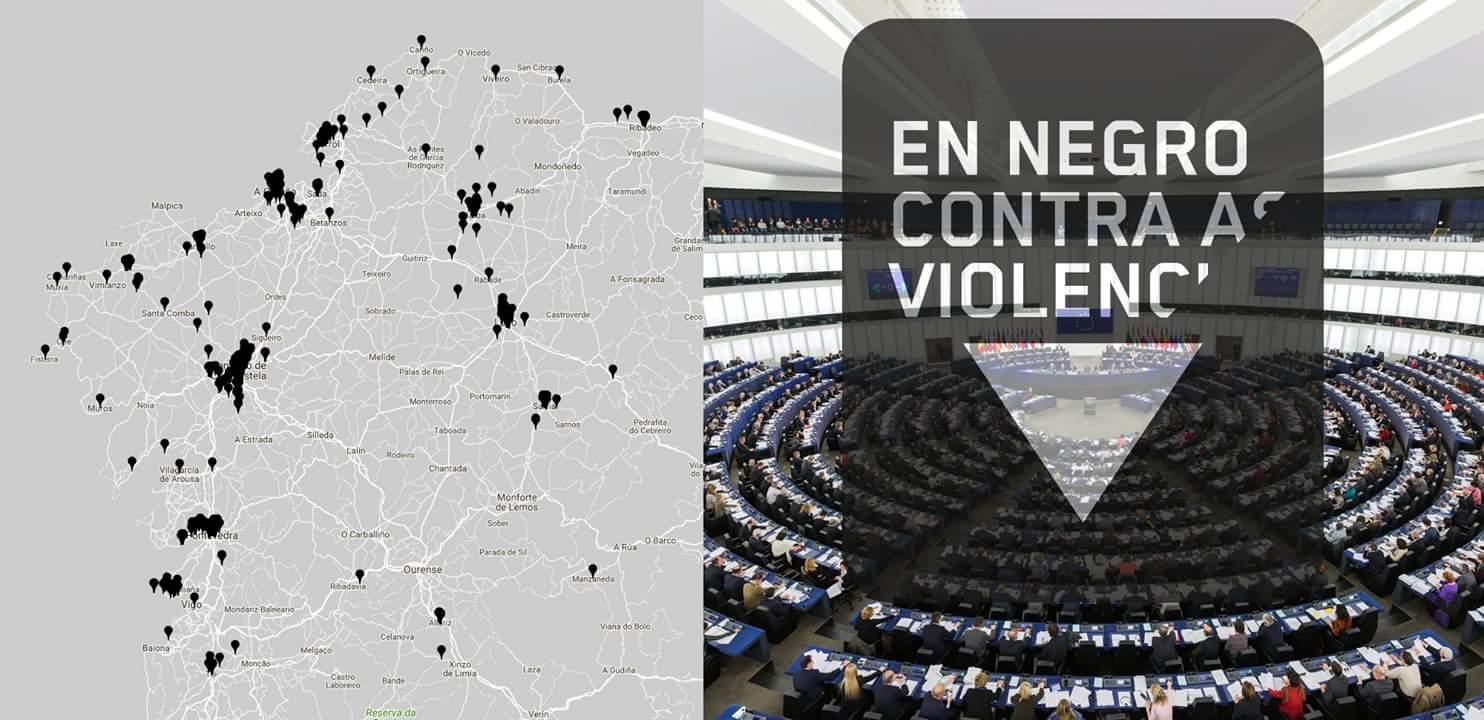 Imaxe En Negro contra as Violencias Machistas no Parlamento Europeo