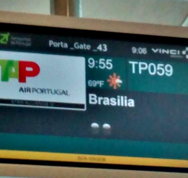 embarcando a Brasilia