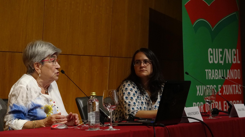 Paula Verao e Miren Etxezarreta nas xornadas pensions este sabado_2720x1528