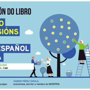 Cartel presentacion libro pensions en Lugo 201218