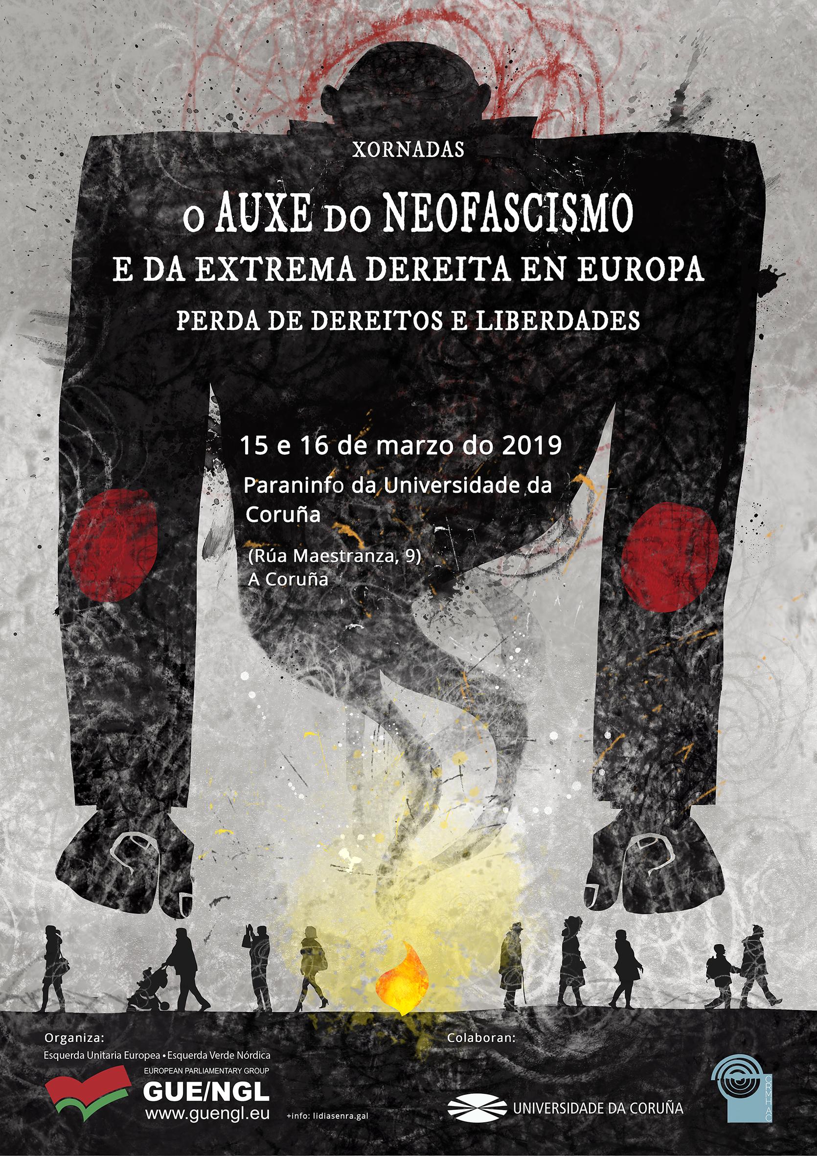 Cartel Xornada O AUXE DO NEOFASCISMO 150319 Coruña