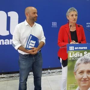 Lidia Senra e Luis Villares en rolda de prensa hoxe