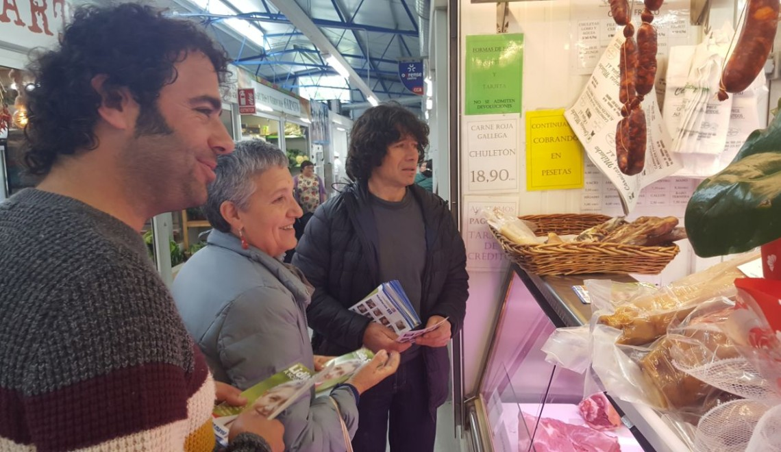 Lidia Senra, en Ourense con Davide Rodriguez e Jose Manuel Garcia Gonzalez